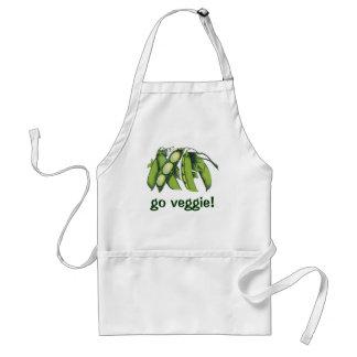 Vintage Vegetables; Lima Beans, Organic Farm Foods Adult Apron