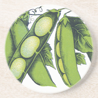 Vintage Vegetables; Lima Beans, Organic Farm Foods Coaster
