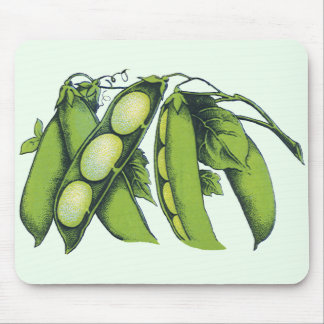Vintage Vegetables; Lima Beans, Organic Farm Foods Mouse Pad