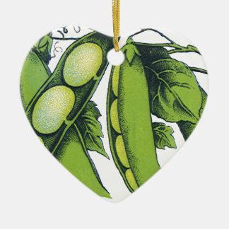 Vintage Vegetables; Lima Beans, Organic Farm Foods Ornament