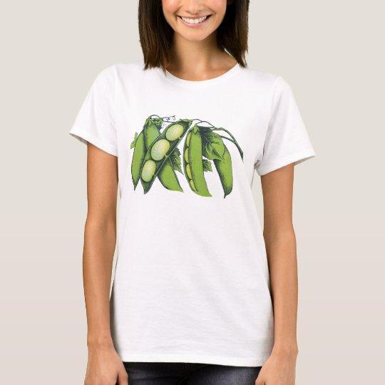 Vintage Vegetables; Lima Beans, Organic Farm Foods T-Shirt