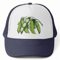 Vintage Vegetables; Lima Beans, Organic Farm Foods Trucker Hat