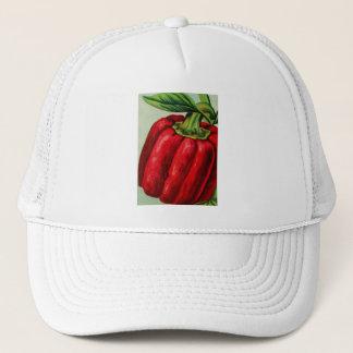 Vintage Vegetables Peppers Red Pepper Trucker Hat