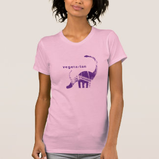 Vintage Vegetarian Brachiosaurus Purple T-Shirt