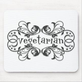 Vintage Vegetarian Mouse Pad