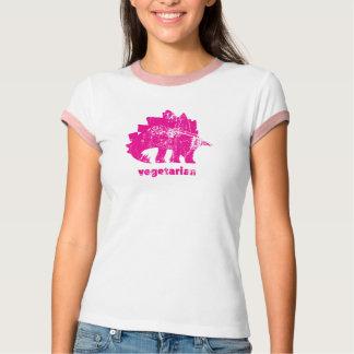 Vintage Vegetarian Stegosaurus Pink T-Shirt