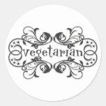 Vintage Vegetarian Sticker