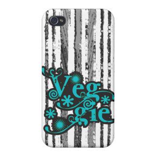 Vintage Veggie, For Vegetarians and Vegans Case For iPhone 4