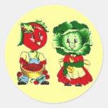 Vintage Veggie People Sticker