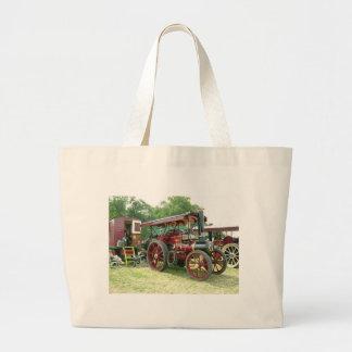vintage vehicle and  trailer jumbo tote bag