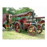 vintage vehicle and  trailer postcard