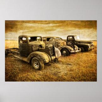 Vintage Vehicles Poster