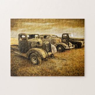Vintage Vehicles Jigsaw Puzzle