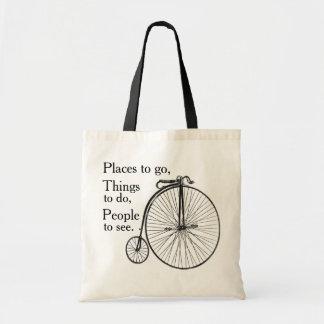 Vintage Velocipede Bike Tote Bag