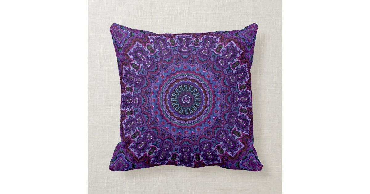 vintage velvet look purple pillow in 2 sizes zazzle. Black Bedroom Furniture Sets. Home Design Ideas