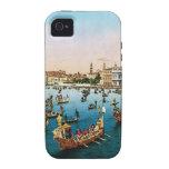 Vintage Venecia, regatta Case-Mate iPhone 4 Fundas