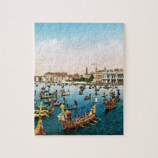 Vintage Venecia, regatta Rompecabeza Con Fotos