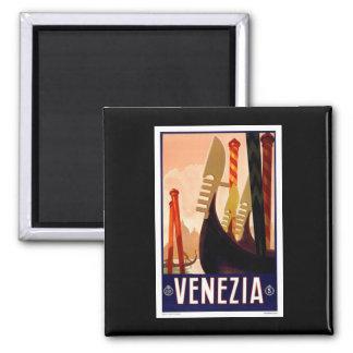 Vintage Venezia Imán Cuadrado