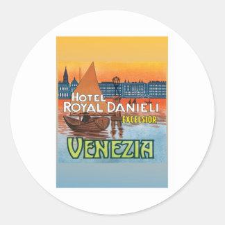 Vintage Venezia Italy Round Sticker