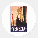 Vintage Venezia Pegatinas Redondas