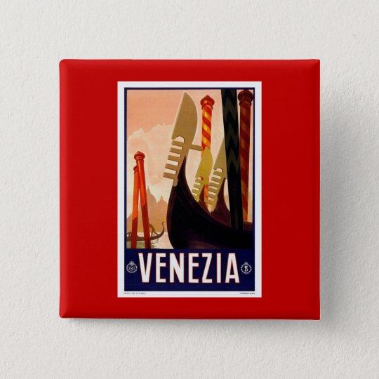 Vintage Venezia Pinback Button