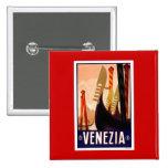Vintage Venezia Pinback Buttons
