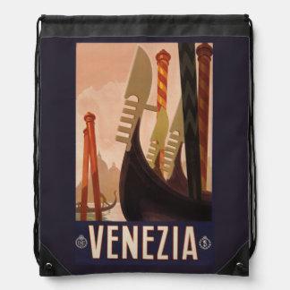 Vintage Venezia (Venice) Italy backbag Drawstring Bag