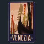 """Vintage Venezia Venice Italy magnet<br><div class=""""desc"""">Using the &quot;Customize it&quot; function,  add your own text if you wish. See my store for more items with this print.</div>"""
