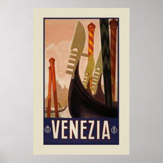 "Vintage Venezia   Venice Italy Travel (23.6x36"") Poster"