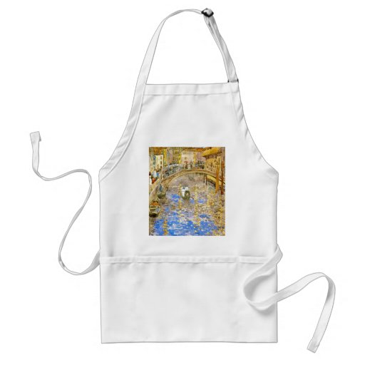 Vintage Venice Italy Canal Scene - by Prendergast Adult Apron