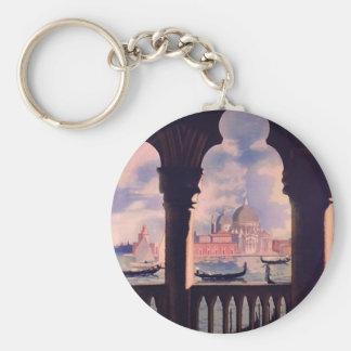 Vintage Venice Italy Travel Keychain