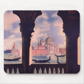 Vintage Venice Italy Travel Mouse Pad