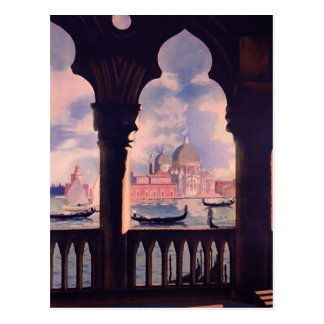 Vintage Venice Italy Travel Post Card