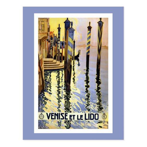 Vintage Venice Italy Travel Postcard