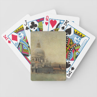 Vintage Venice, Madonna della Salute Church Bicycle Playing Cards