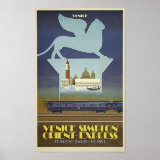 Vintage Venice Simplon Orient Express Train Poster