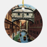 Vintage Venice, the Bridge of Sighs Ceramic Ornament