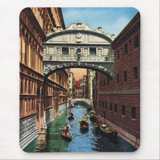 Vintage Venice, the Bridge of Sighs Mouse Pad