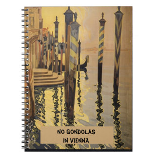 Vintage Venice Travel Poster Spiral Note Book
