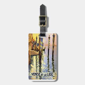 Vintage Venise et le Lido Luggage Tag