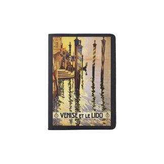 "Vintage ""Venise y tenedor del pasaporte de le Porta Pasaportes"