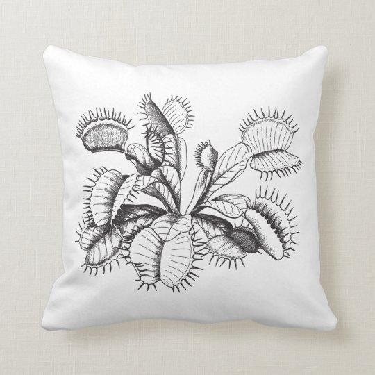 Vintage Venus Flytrap Throw Pillow