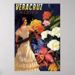 Vintage Veracruz Mexico Travel Poster