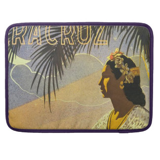 Vintage Veracruz Mexico Travel Poster Sleeve For MacBook Pro