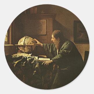 Vintage Vermeer Astronomer Sticker