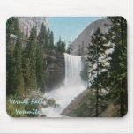 Vintage vernal Yosemite Mousepad de las caídas Tapetes De Ratones