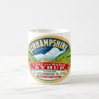 Vintage Vernhampshire Cane and Maple Syrup Label Classic White Coffee Mug