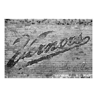 Vintage Vernors Wall Ann Arbor Michigan 1999 Print
