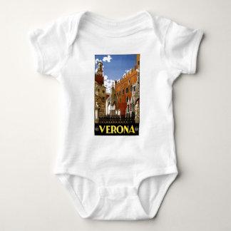 Vintage Verona Italy Architecture Travel Baby Bodysuit