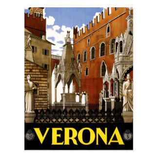 Vintage Verona Italy Architecture Travel Postcard